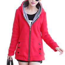 Women Fashion Autumn Winter Thicken Sports Cotton Coat ladies Solid Hooded Warm Jacket Outerwear female padded parka overcoat(China)