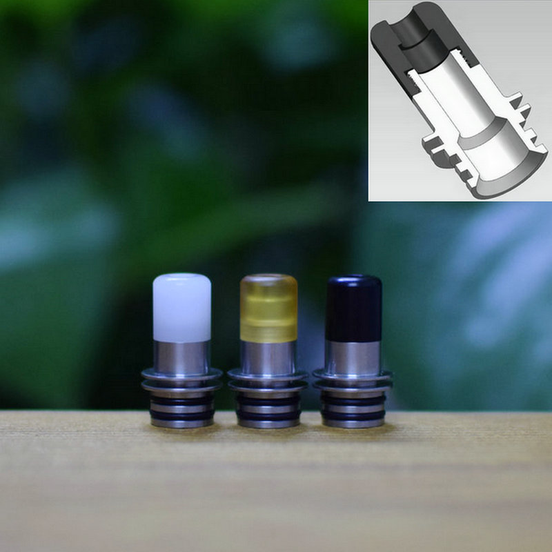 KS 510 Drip Tip Hybrid Anti Condensation Vape Tips For Taifun Gtr Kayfun Lite Dvarw Mtl Tank Electronic Cigarette Accessories