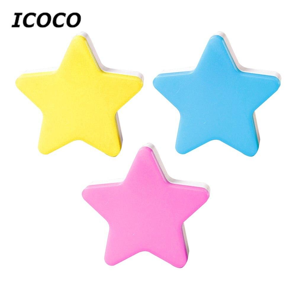 Star LED Night Light Induction Lamp Nightlight Automatic Switch Light Sensor Energy Saving US/EU Plug Blue/White/Pink/Yellow