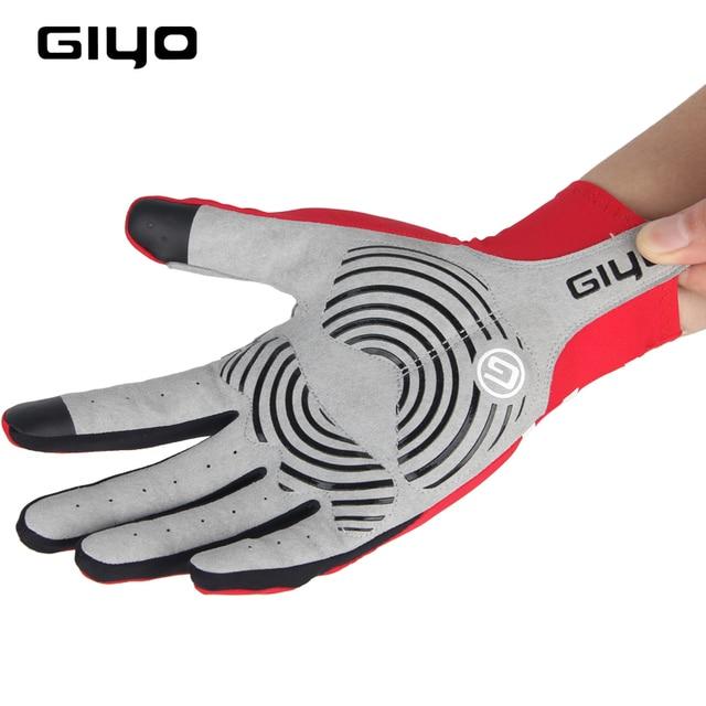 Giyo tela sensível ao toque longo dedos completos gel luvas de ciclismo esportes das mulheres dos homens bicicleta mtb estrada equitação corrida 4