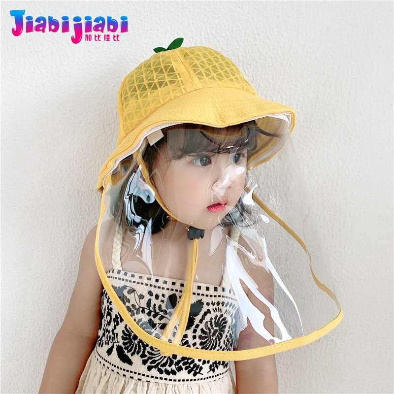 Baby Kids Hat Mask Boy Girl Protection Viru Anti-Spitting Virus Face Shield Mask Protetor Facial Plastic Visor Cap 6 Month-3 Old