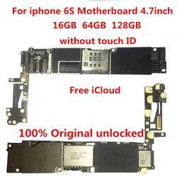 Dla iphone 6S 16GB płyta główna  100% oryginalny odblokowany dla iphone 6S tablice logiczne bez Touch ID 16gb + narzędzia + prezent|null|Telefony komórkowe i telekomunikacja -