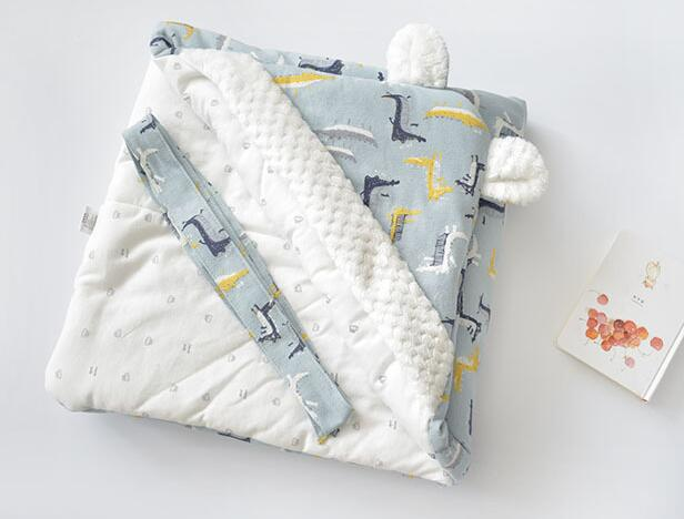 MOTOHOOD Winter Baby Blankets Newborn Swaddle Muslin Swaddle Baby Wrap Warm Baby Blanket Cotton Stroller Blankets  (11)