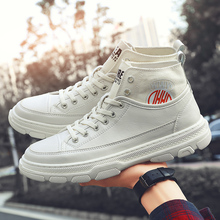Trend Mens Designer Sneakers Wearable Rubber Sole Casual Shoes Autumn Pu Leather Shoes For Mens High Top Flats Casual Shoes Men sipriks luxury mens dress shoes unique designer derby shoes handsome sewing welted shoes rubber sole work flats 2018 new style