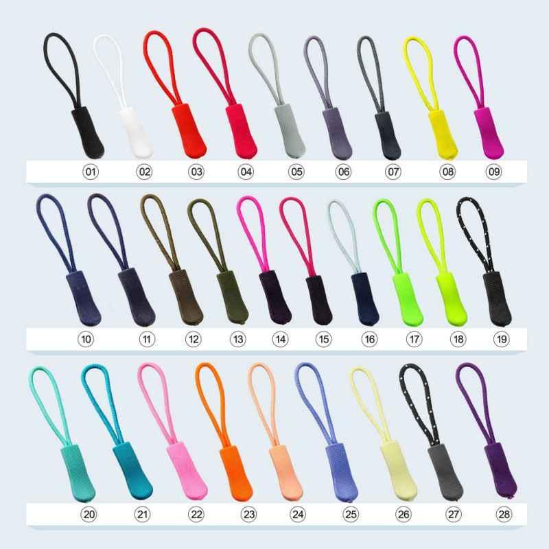 10 Uds. Zipper Sliders cremalleras de mochila chaqueta tienda Cordón de cremallera mochila accesorios Slider paño reemplazo