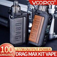 Original voopoo arrastar max kit 177w caixa mod vape e 4.5ml pnp pod tanque apto pnp bobinas vaporizador dragmax novo cigarro eletrônico