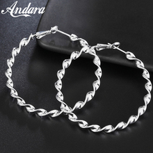 New Style 925 Sterling Silver Earrings Twisted Line Fashion Earring Dress Ladies Jewelry Gifts