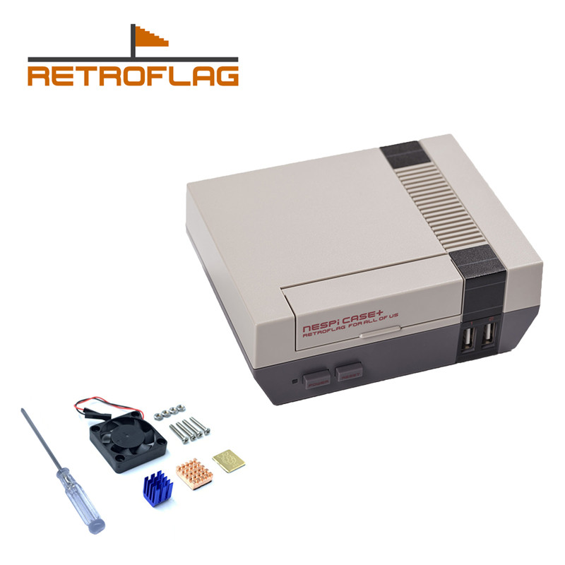 Retroflag NESPi CASE Plus Safe Shutdown Functional POWER Button for Raspberry Pi 3 B + B Plus 2