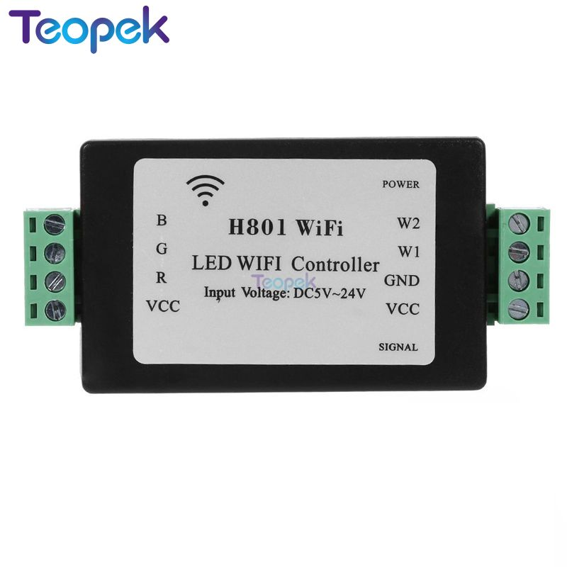 RGBW WiFi LED Controller H801 DC5-24V Input;4CH*4A Output Or RGB RGBW Led Strip Light Tape