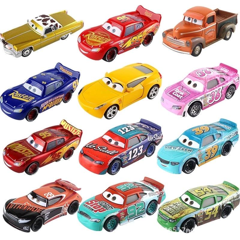 Disney Pixar Cars 2 3 Lightning McQueen Mater Jackson Storm Ramirez 1:55 Diecast Vehicle Metal Alloy Boy Kid Toys Christmas Gift|Diecasts & Toy Vehicles|   - AliExpress