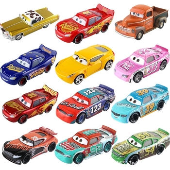 Disney Pixar Cars 2 3 Lightning McQueen Mater Jackson Storm Ramirez 1:55 Diecast Vehicle Metal Alloy Boy Kid Toys Christmas Gift image