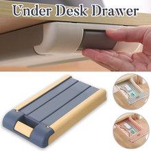 Самоклеящийся поднос для карандашей Выдвижной столик ящик органайзер