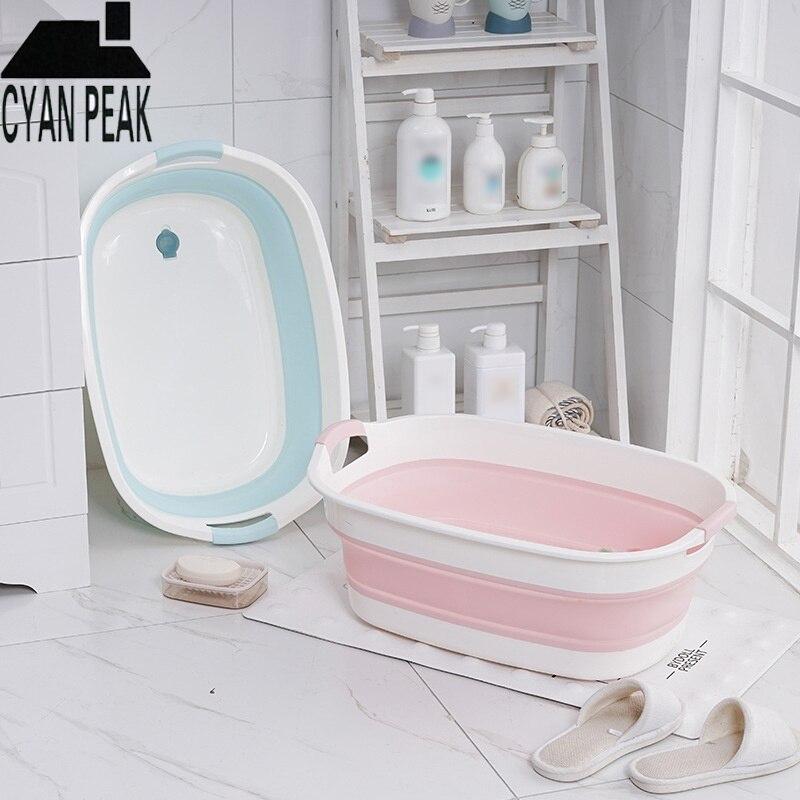 Портативная Детская ванна, нескользящая Складная Ванна для новорожденных, Складная Ванна для домашних животных, аксессуары для ванной комн...
