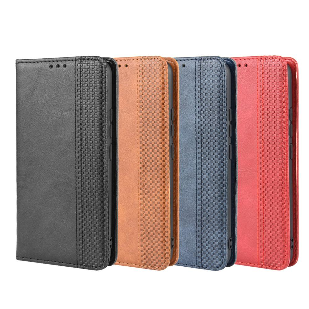 Luxury Retro Slim PU Leather Magnetic Adsorption Sucker Flip Wallet Case Card Stand Holder Book Cover For Oukitel K9 K12 C17 Pro(China)