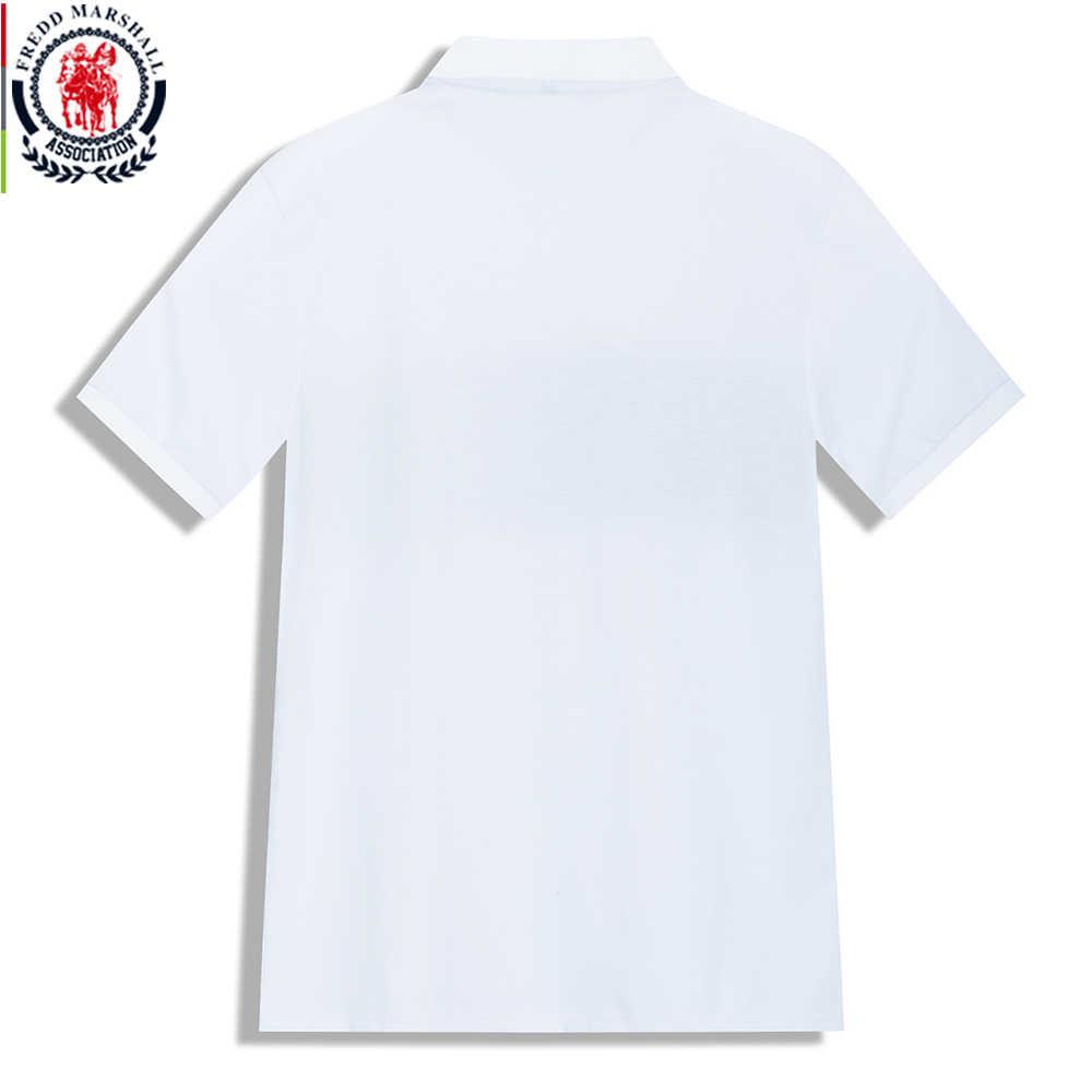 프레드 마샬 2020 패션 패치 워크 폴로 셔츠 남성 짧은 소매 캐주얼 브랜드 의류 남성 스트라이프 폴로 셔츠 사회 정상 506
