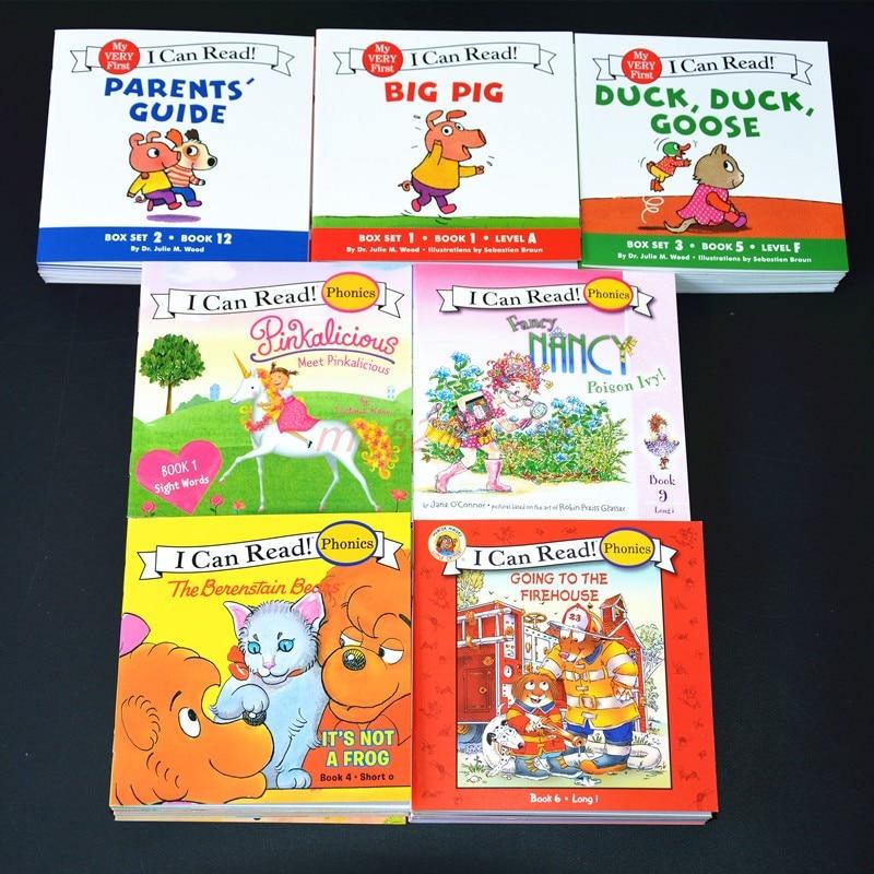 Je peux lire 84 livres photo anglais histoire phonique lecture éducative livres de poche pour bébé pour enfants enfants apprenant des jouets