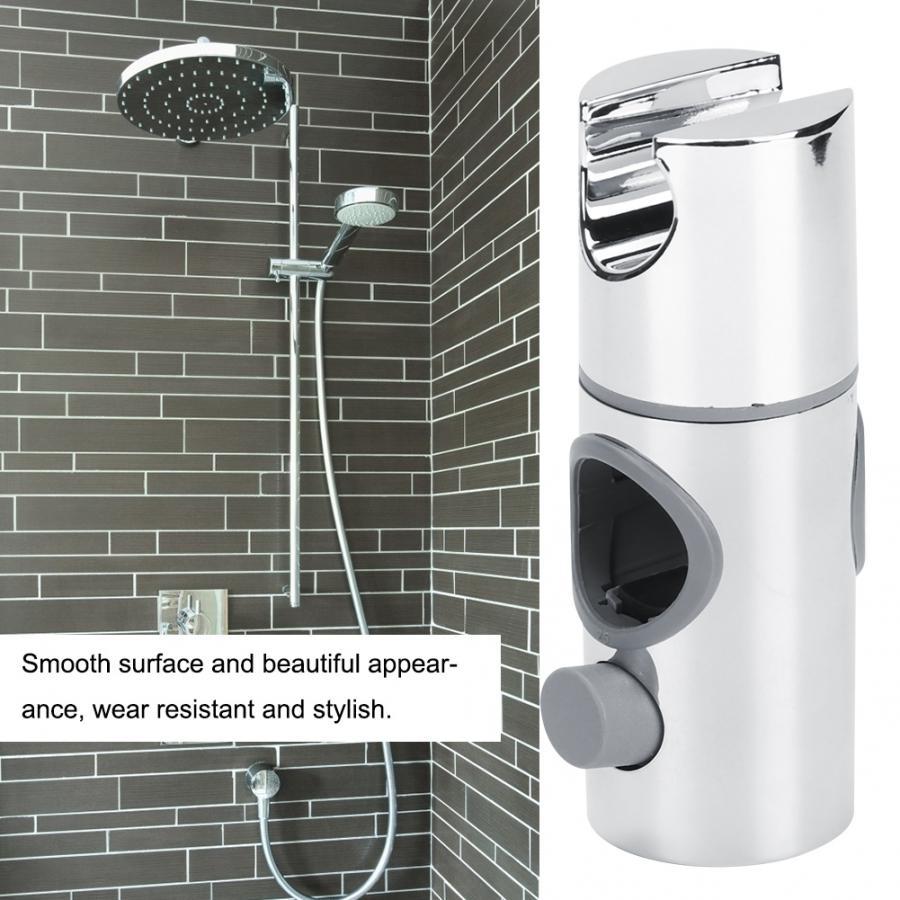 Solid Adjustable Rotatable Aluminum Bathroom Shower Head Bracket Showerhead Holder Wall Mount with Hanger Hook