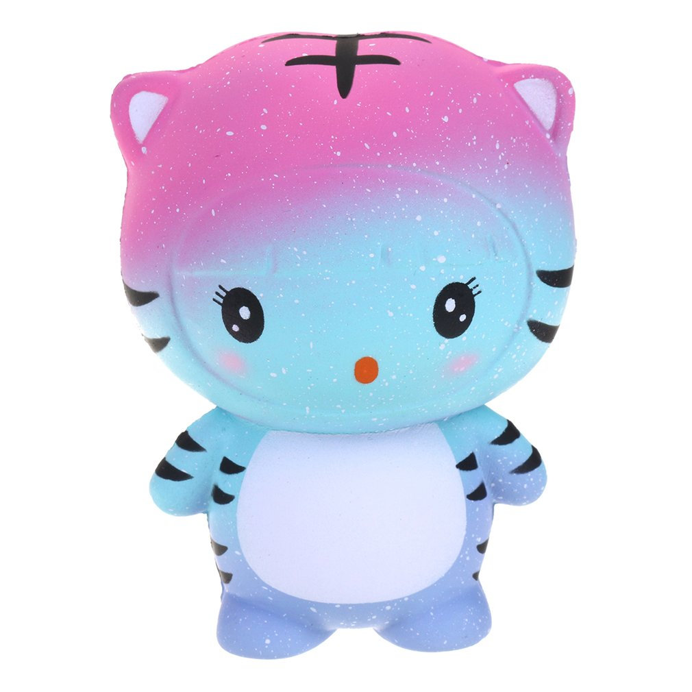 Cute Tiger Rebound Slow Squishy Toys PU Simulation Bread Squeezed Decompression Vent Decoration Funny Gift For Children Adult