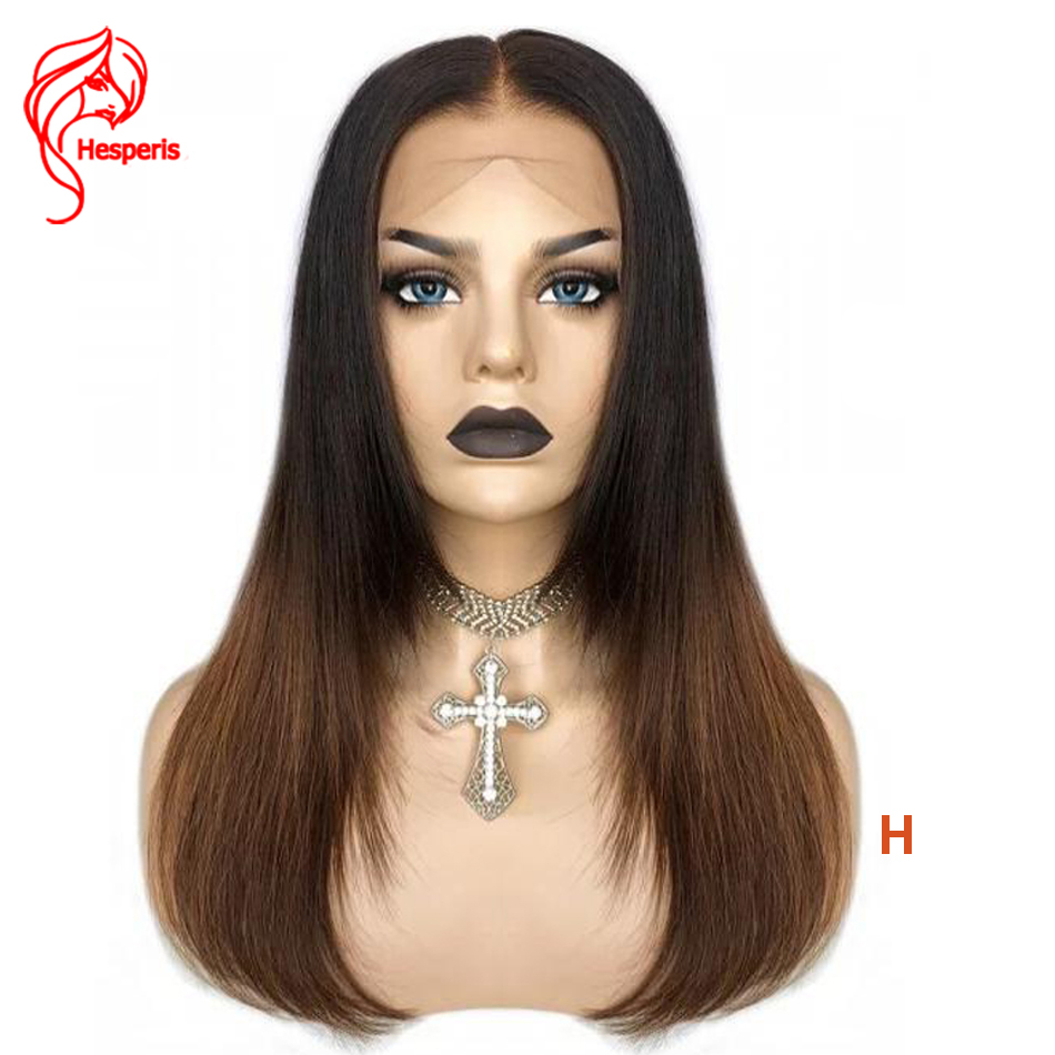 Hesperis Short Bob Lace Front Wigs Pre Plucked  With Baby Hair Layered Indian Remy Ombre Human Hair Bob Wigs 130-180 Density