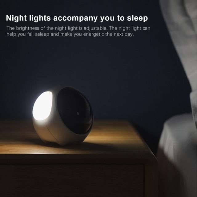 Cute Night Light Alarm Clock LED Smart Kids Digital Clock Home Decor For Children Room Sleep Trainer Lamp Clocks Kids Xmas Gift 4