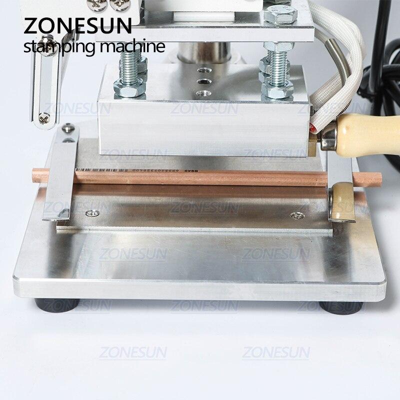 Alibaba グループ 上の ZONESUN ZS 100A カスタムロゴホット箔スタンピングマシンマニュアルブロンズ Pvc カード用の革紙鉛筆マシンをスタンピング 3