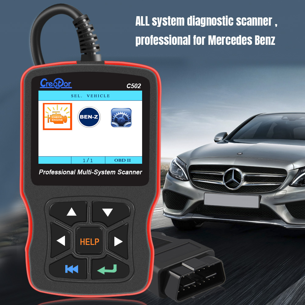 Creator C502 OBD2 Diagnostic Tools For W203  Mercedes Benz W211 OBD2 Scanner Support ABS Airbag OBD 2 Auto Diagnostic Scanner