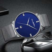 Luxury Ultra Thin Clock Male Steel Strap Casual Quartz Watch