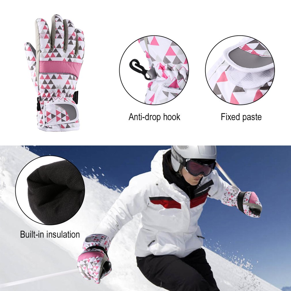 OUTAD Winter Outdoor Durable Breathable Windproof & Waterproof Snow Ski Gloves Warm Women Mountain Climbing Gloves