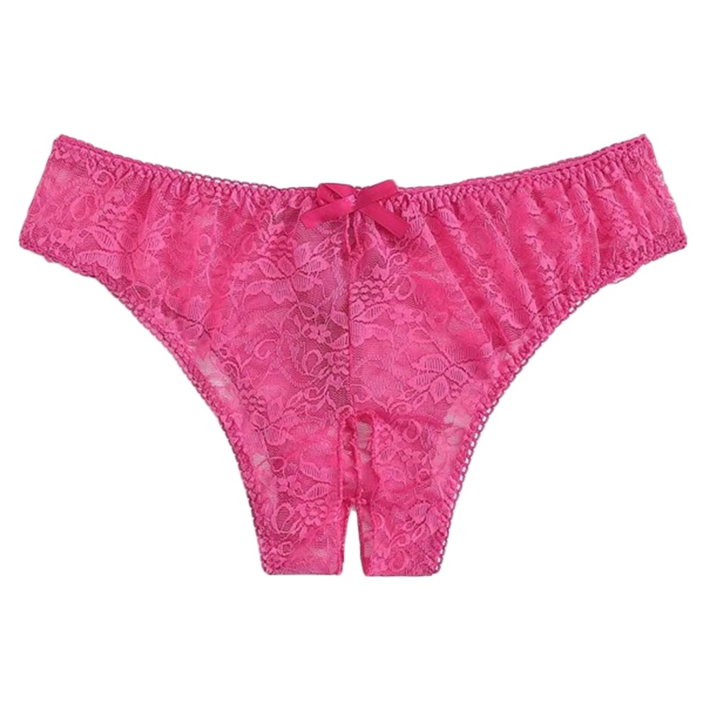 1pc Women Sexy Floral Lace Panty Underwear Brief Plus Crotchless Thong Lingerie Underpants Sexy Thong Tanga Women Sexy