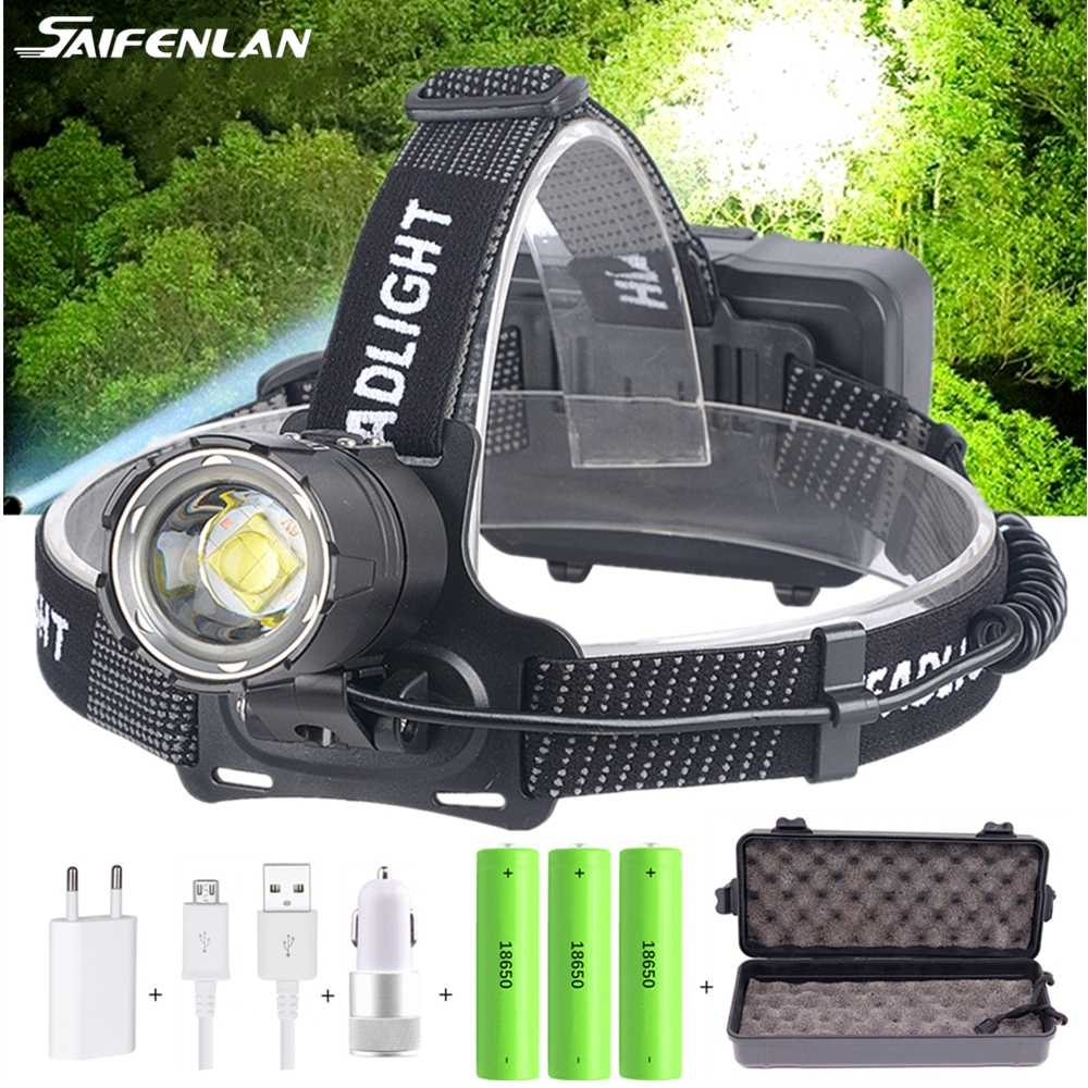 90000LM Rechargeable Tactical T6 LED Headlamp 18650 Headlight Head Torch Light U