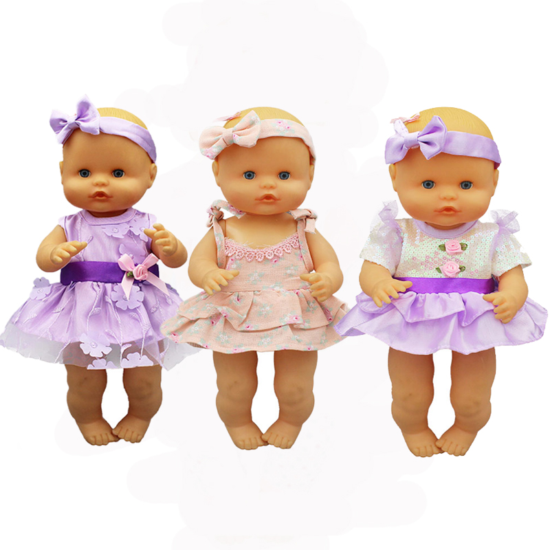 Flower Dress+hairbrand Clothes Fit 35 Cm Nenuco Doll Nenuco Y Su Hermanita Doll Accessories