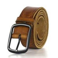 Nouveau crazy horse ceinture en cuir véritable pour hommes peau de vache hommes ceintures en cuir vintage jean sangle couleur marron 130 cm string manuel