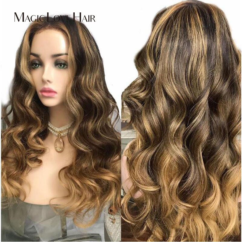 Magic Love Hair Wave Wigs  Lace Front Human Hair Wigs Pre Plucked With Baby Hair Brazilian Wave For Black Women