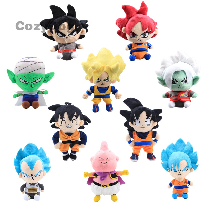 17-25cm Dragon Ball Z Plush Stuffed Doll Toys Figure Son Goku Gohan Vegeta Vegetto Runks Bulma Pan Chichi Toys Children Gift