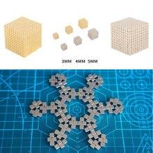 цена на 216Pcs/set 3mm/4mm/5mm Magic Magnet PUZZLE Cube Magnetic Blocks Balls NEO Sphere Beads Building Toys DIY D3 Sphere Neodymium