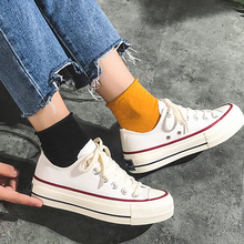 Hgh Quality Summer Women's Canvas Shoes Low-top Flat Couple