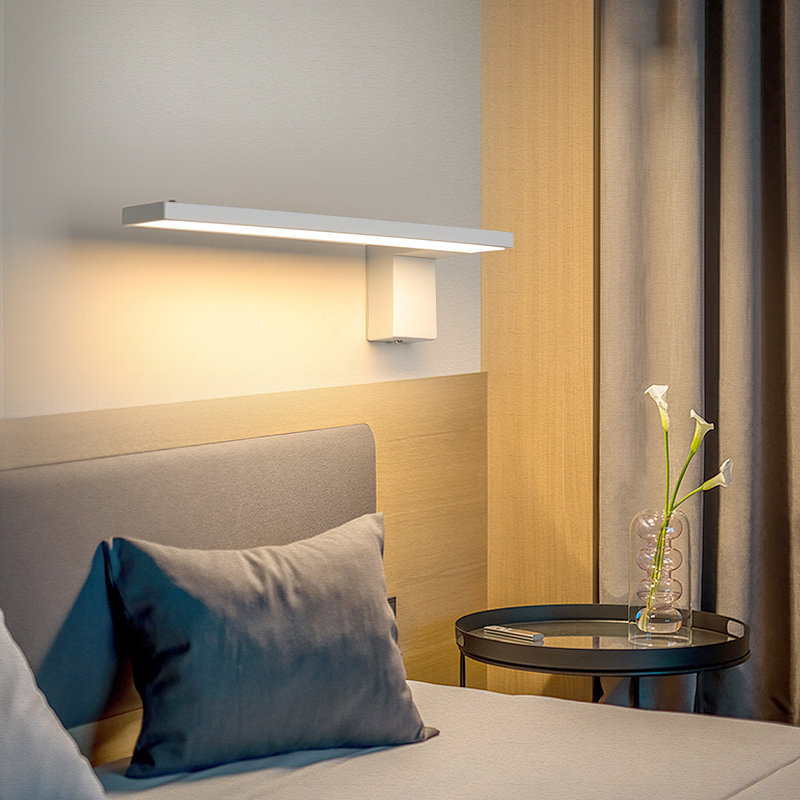 32x8cm 12W modern led wall lights for living room bedroom corridor wandlamp white/black art bedside wall lamp sconce fixtures|LED Indoor Wall Lamps| |  - title=
