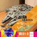 05132 Ultimate Millennium Star серия сокол модель строительные блоки Набор военный корабль 75192 игрушки коллекционеры Кирпичи подарок для детей
