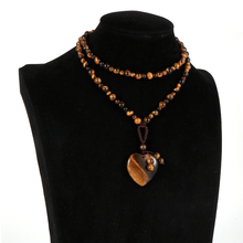 Pendant Necklace Tiger Gem-Stone Long-Sweater India Natural Love Heart Women Unisex 25-Stand
