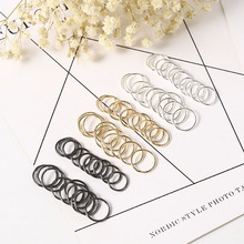60Pcs Gold Sliver Color Stainless Steel Nostril Nose Hoop Stud Ring Clip on Body Fake Piercing Jewelry Accessory Septum Ring