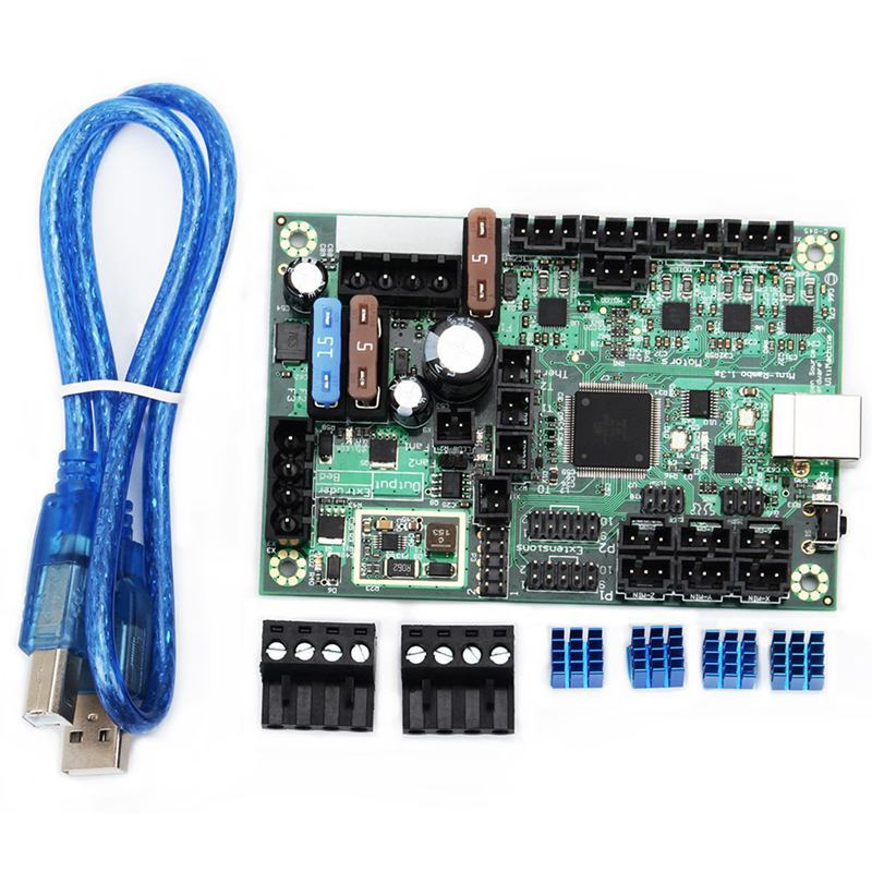1PC DC 10 28V Mini Rambo 1.3 Control Board Set Kit 3D Printer Part for Prusa MK2-in 3D Printer Parts & Accessories from Computer & Office