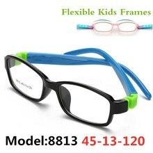 Милые Acetato резиновая рамка для детских очков, гибкие очки, Детская оправа, очки TR90, оптическое стекло 8813 Oculos De Grau