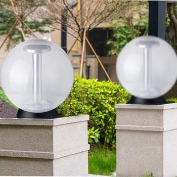 Solar LED Post Cap Lights Outdoor Column Headlight Pillar Light Fence Post Lights For Deck Gatepost Patio Or Garden Decoration