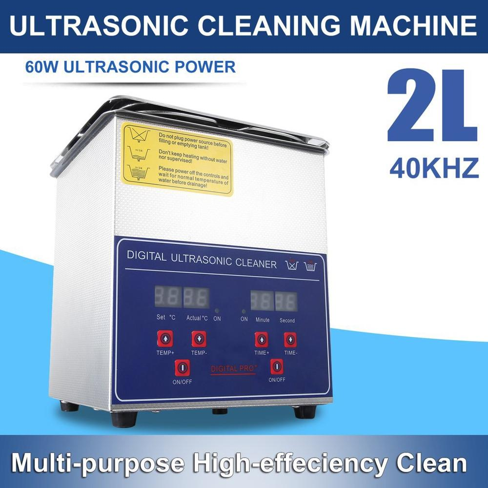 Digital Stainless Steel Ultrasonic Cleaning Machine Cleaner Ultra Sonic Cleaning Tank With Basket For Jewelry Glasses