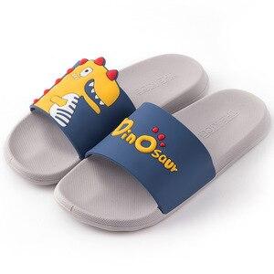 Image 5 - Mum Zapatillas de Interior de PVC suave para niños, zapatilla para baño antideslizante, estilo de dibujos animados, para el hogar, 2020