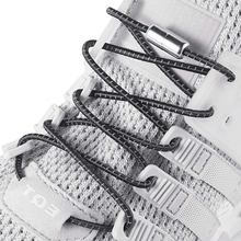 1 Pair Elastic Shoelaces Reflective Round Shoe laces Outdoor Leisure Sneakers No Tie Shoelace Metal Lock Lazy lace