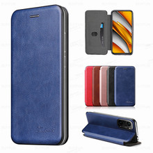 Leather Magnetic Flip Cose For Xiaomi Poco F3 X3 Pro M3 Pocophone F M X 3 PocoF3 Pocom3 PocoX3 NFC Stand Card Wallet Cover Coque