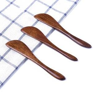Juego de 5 uds. De espátula de madera para mantequilla de queso, niño, Chico, sándwich, rebanador de mermelada, cuchillo, cortador, herramienta de seguridad para desayuno, accesorios