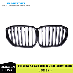 Pojedyncza głowica styl jasnoczarny przedni zderzak maskownica do BMW X5 G05