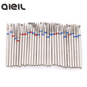 Image 2 - 4PCS Diamond Cutters for Manicure Set Silicon Ceramic Stone Nail Drill Bits Set Rotary Cuticle Burr Milling Cutters for Pedicure